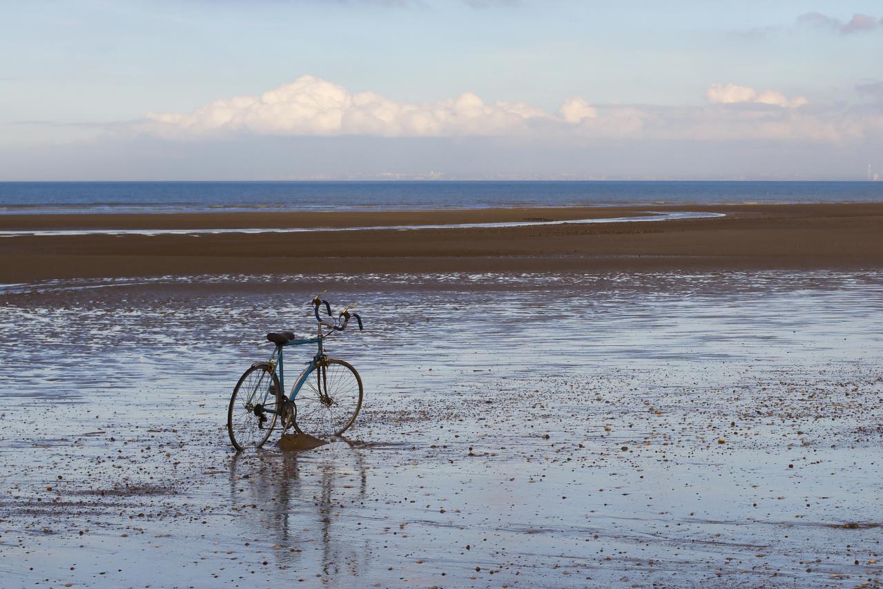 Sur la plage abandonné