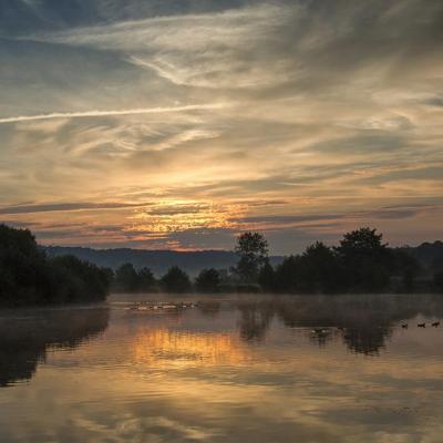 Lever de soleil sur le marais